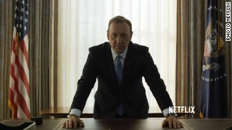 'house of cards frank underwood president' from the web at 'http://i2.cdn.turner.com/money/dam/assets/150227103708-house-of-cards-frank-underwood-president-336x188.jpg'