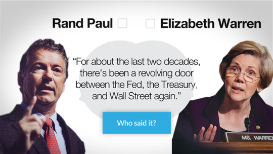 Republican? Elizabeth Warren? Who said it?