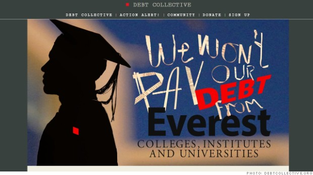 'Corinthian 15' launch 'debt strike' over student loans