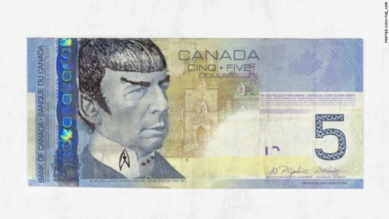 Spock Your Canadian Bills