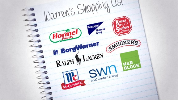 warren buffett shopping list