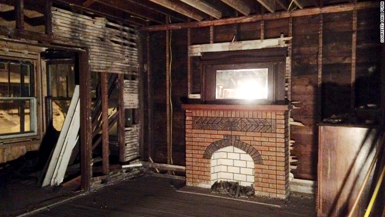 one dollar homes demo fireplace