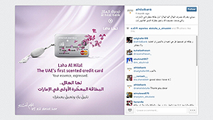 A bank is offering scented credit cards to Middle Eastern women