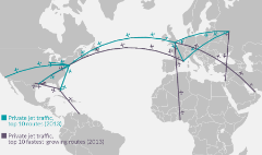 Here's where people are flying private jets