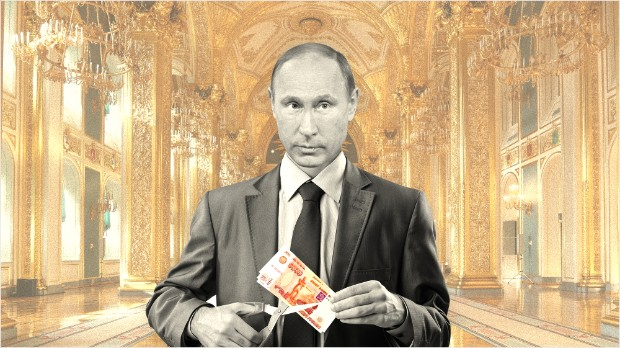 Putin gets tough, slashes own salary
