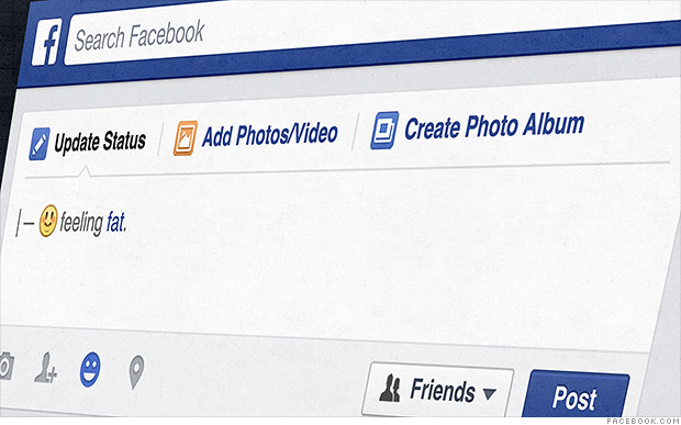"""Facebook's """"feeling fat"""" emoticon gets a thumbs down"""