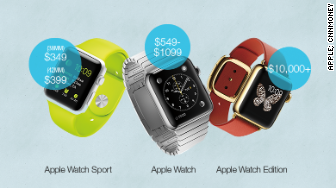 apple watch model prices