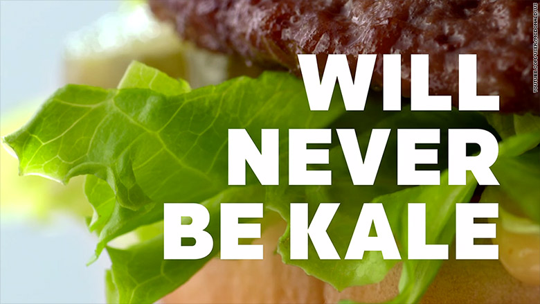 mcdonalds never be kale