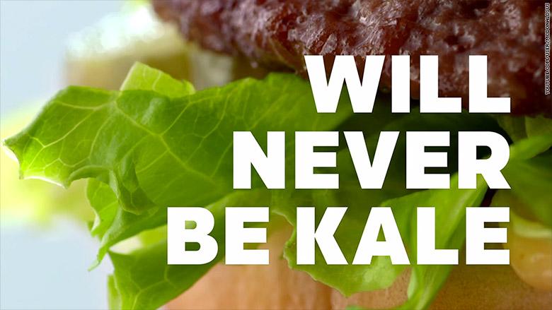 mcdonalds never be kale