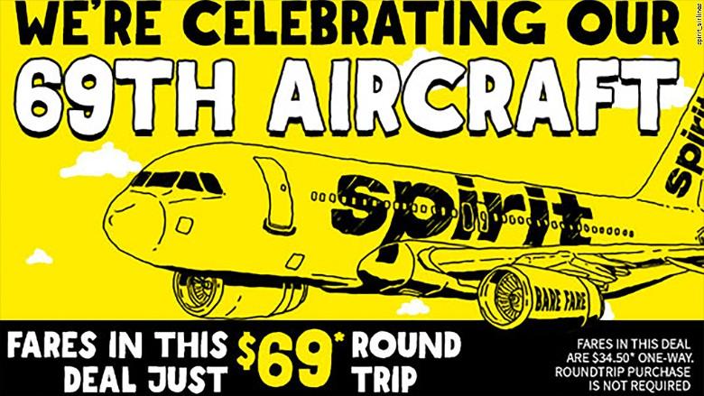 spirit airlines 69th