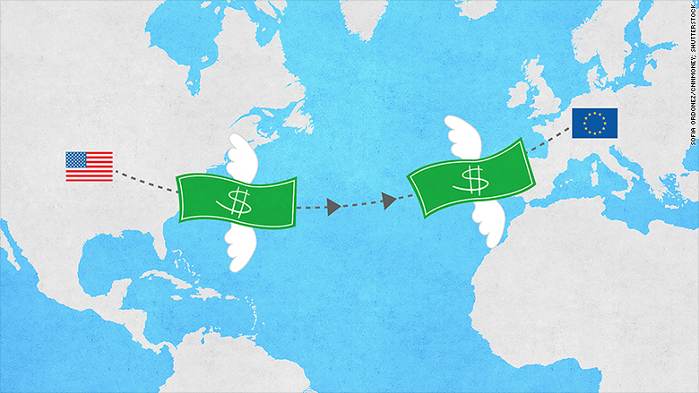 us funds to europe