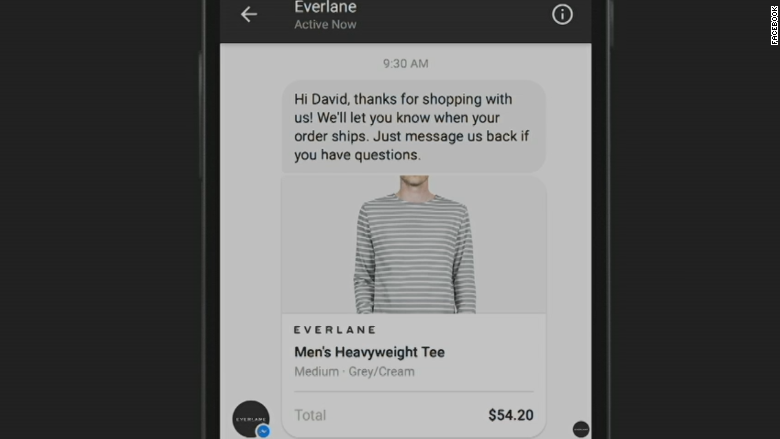 Facebook Messenger chat with business