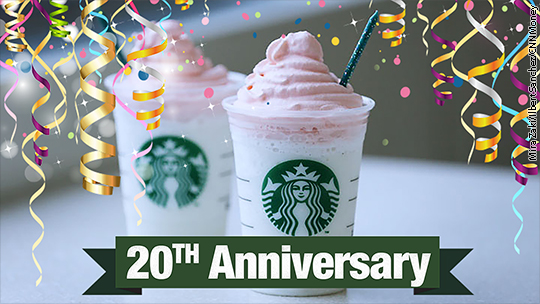 We tried Starbucks' Birthday Cake Frappuccino