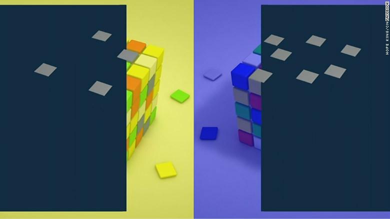 f8 color cubes grey