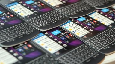 BlackBerry lives! Stock soars on strong outlook