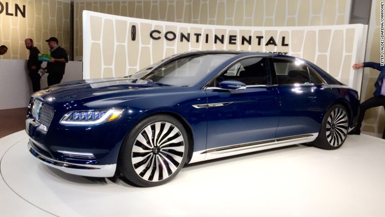 ford 39 s big lincoln continental is coming back mar 30 2015. Black Bedroom Furniture Sets. Home Design Ideas
