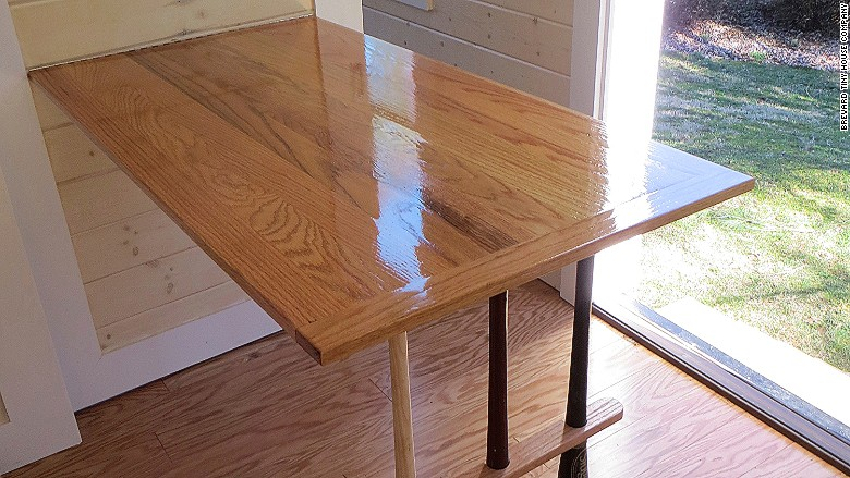tiny home wall kitchen table