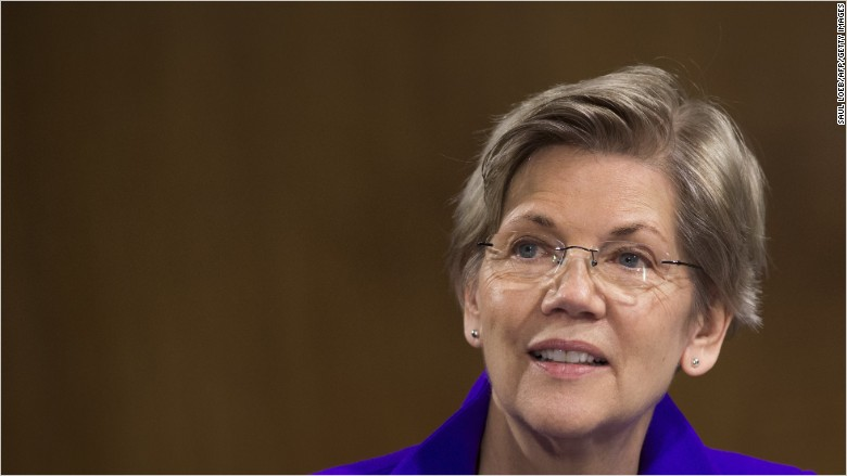 Elizabeth Warren tells Wall Street: 'Bring it on'