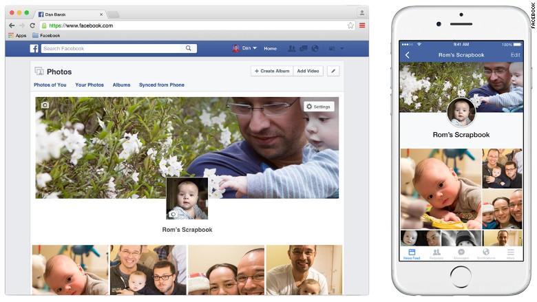 Facebook scrapbook babies