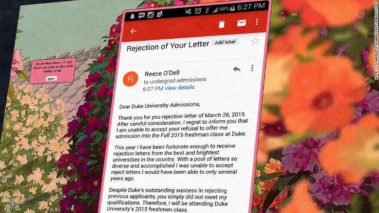duke rejection letter