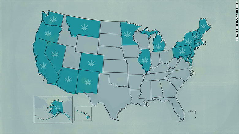 Day Things To Know About Legal Pot Apr - Us map of legal weed 2017