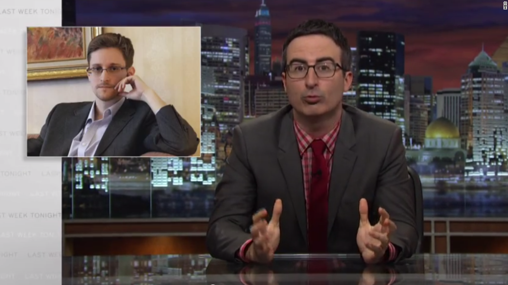 John Oliver interviews whistleblower Edward Snowden