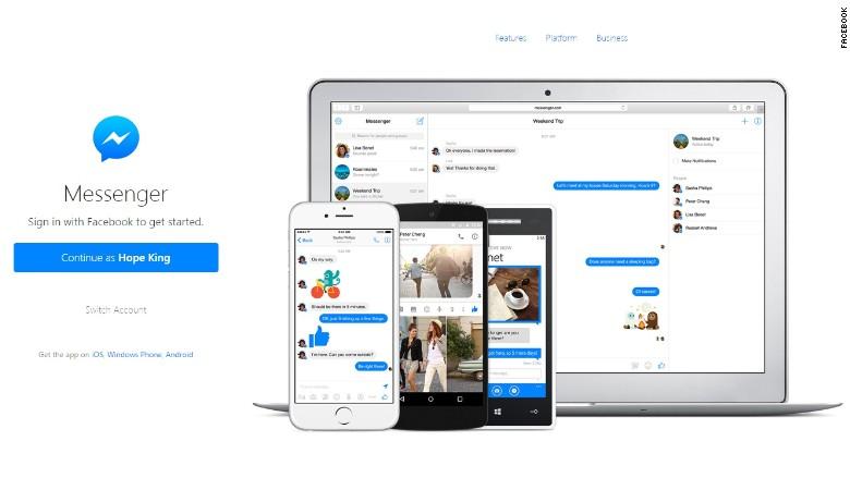 facebook messenger website standalone