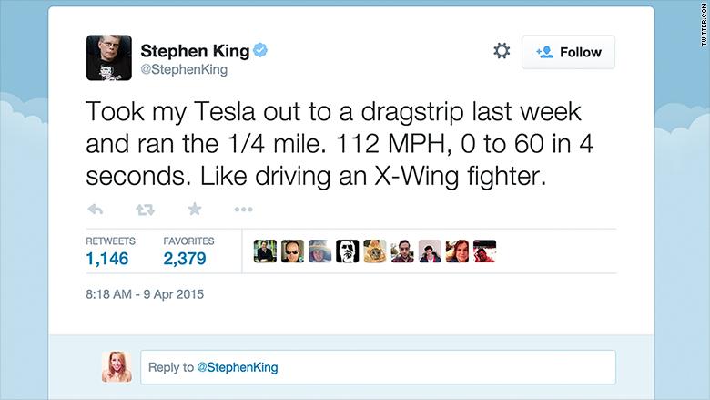 stephen king tesla tweet
