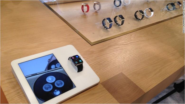 apple watch store display selfridges