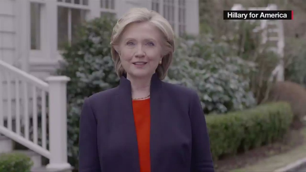 Hillary Clinton announces 2016 presidential run
