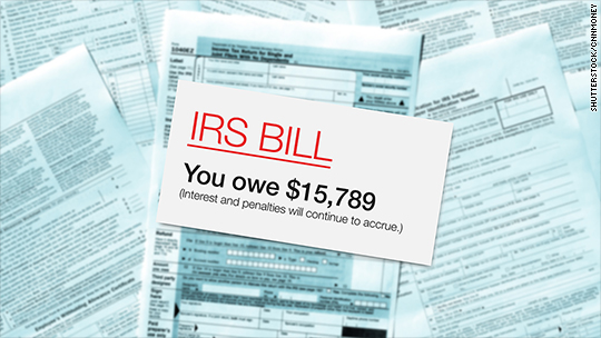 What happens when you can't pay what you owe the IRS
