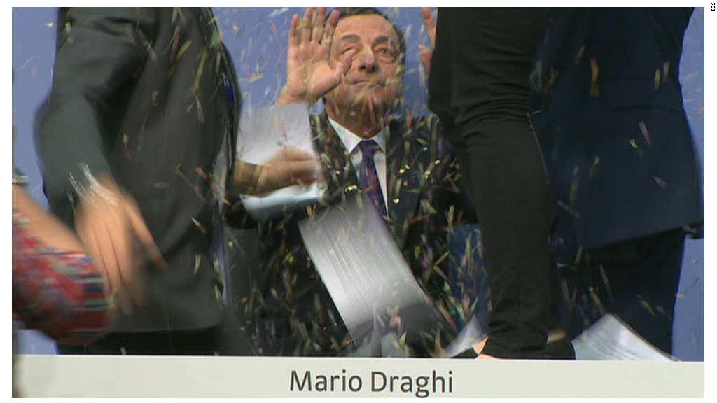 Mario Draghi attacked by activist at ECB meeting