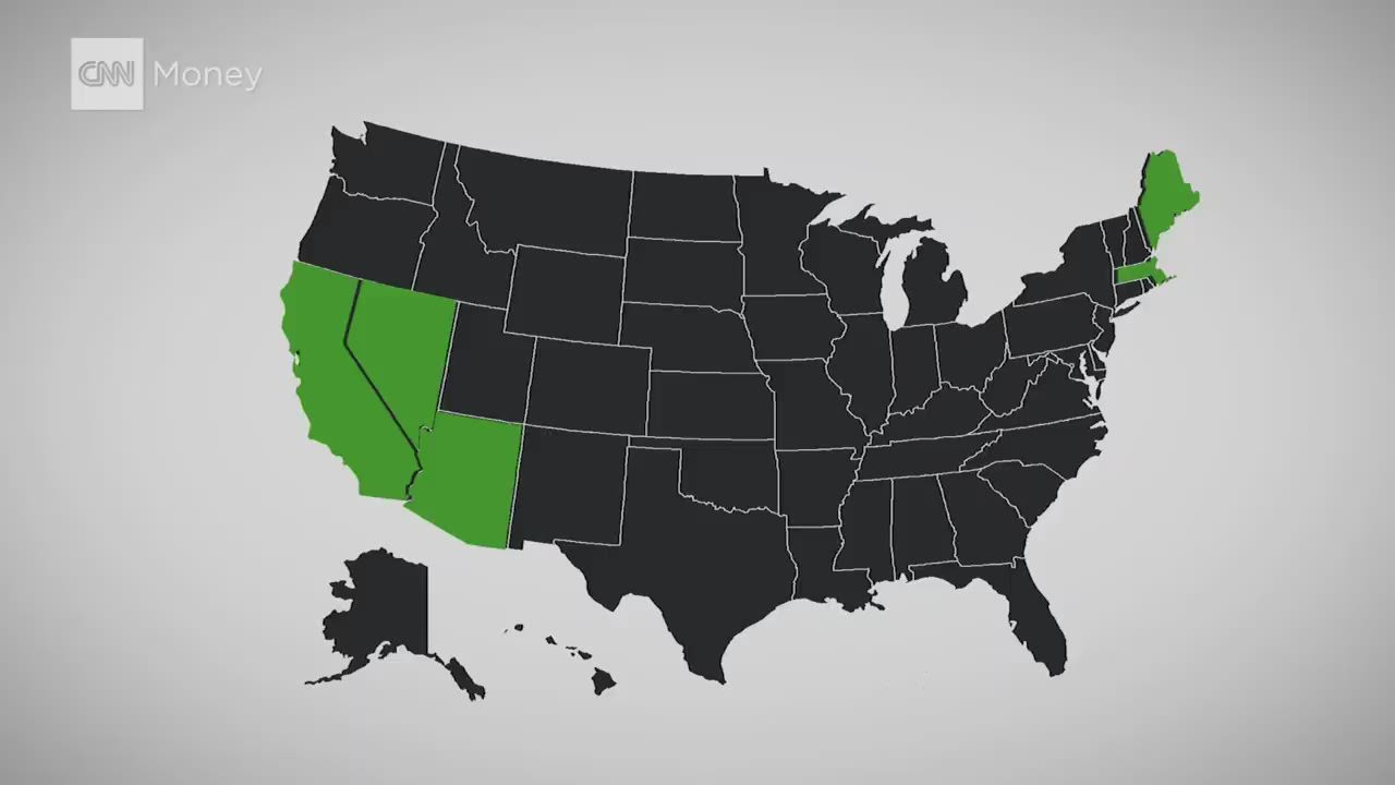 Where Pot Is Legal CNNMoney - Us legal state marijuana map