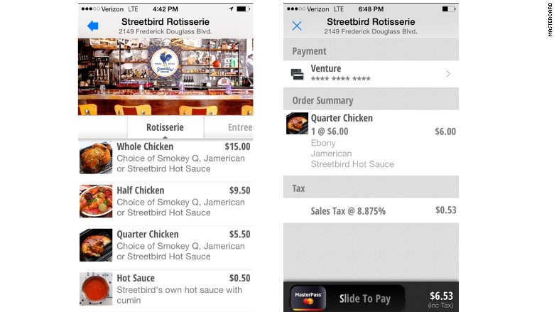 mastercard qkr app streetbird order
