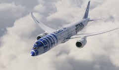 R2-D2 takes flight on Japanese airliner