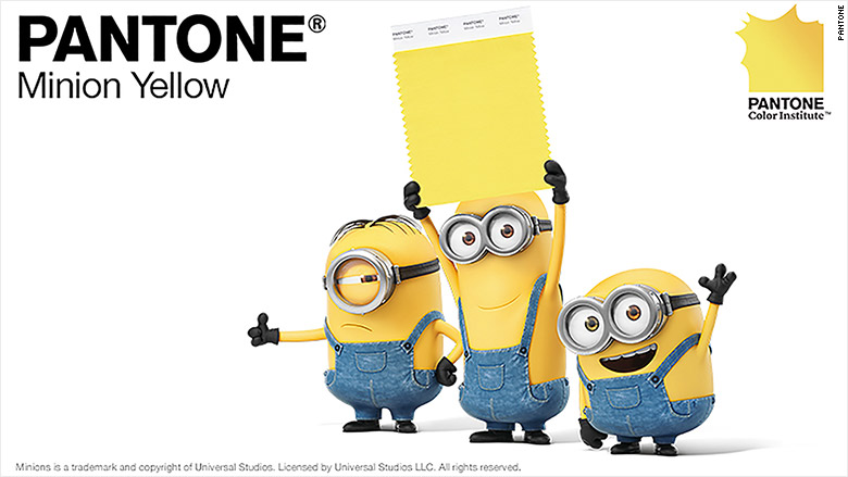 Minions' inspire a cheery new Pantone color - Apr. 21, 2015