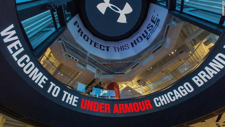 Under Armour -- in competition with Nike and Adidas -- tries to recover  from Trump compliment