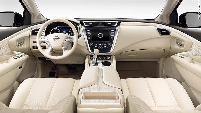 nissan murano 10 best car interiors cnnmoney. Black Bedroom Furniture Sets. Home Design Ideas