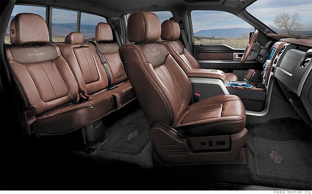 ford f 150 10 best car interiors cnnmoney. Black Bedroom Furniture Sets. Home Design Ideas