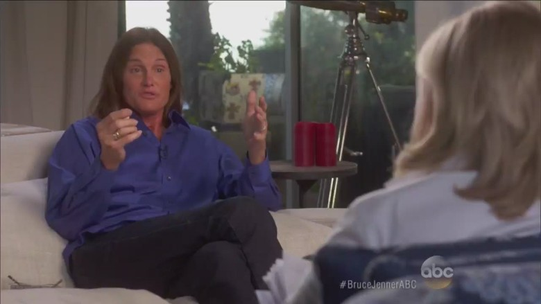 The reaction to Bruce Jenner is love