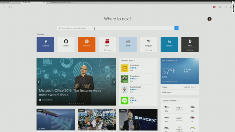 Microsoft Edge' browser will replace Internet Explorer - Apr. 29, 2015