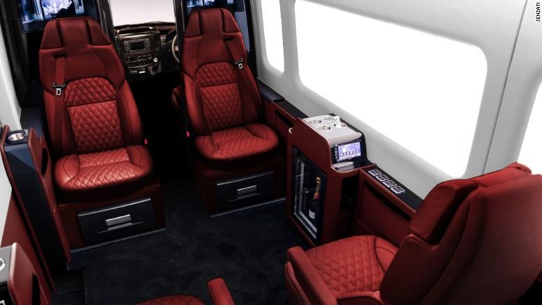 senzati luxury van