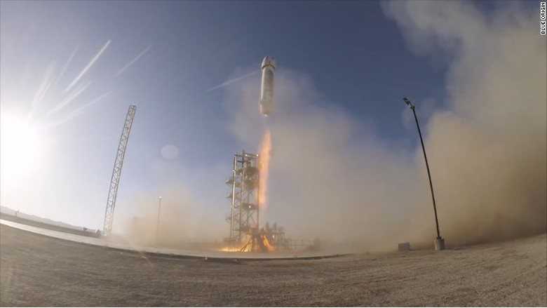Amazon's Jeff Bezos launches first rocket into space - Apr ...