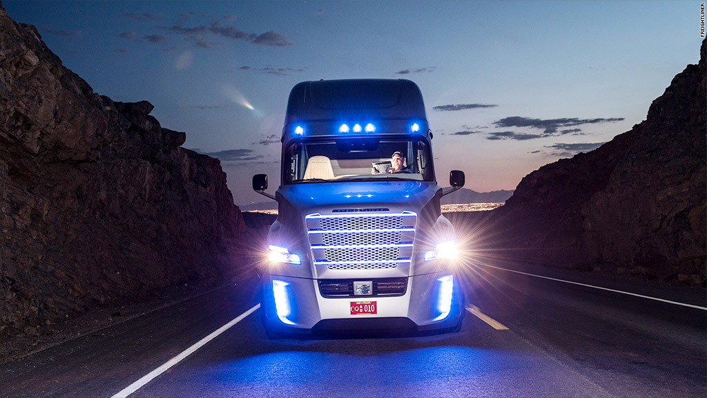 Self-driving trucks hit Nevada roads
