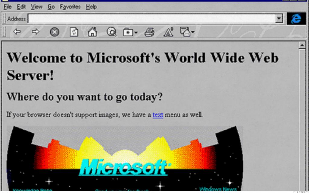 old website microsoft
