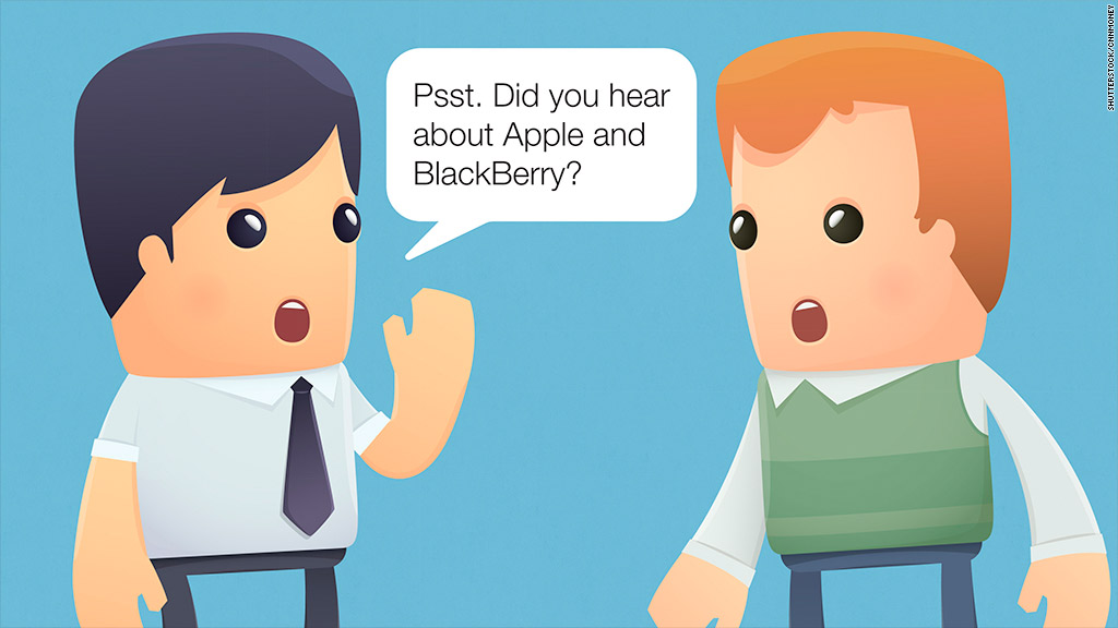 Psst. Did you hear about Apple and BlackBerry?