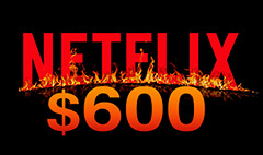 White-hot Netflix zooms past $600