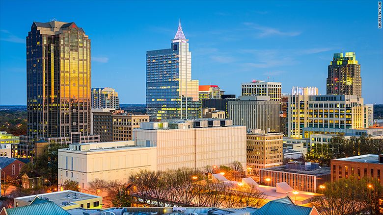 top 10 job cities raleigh