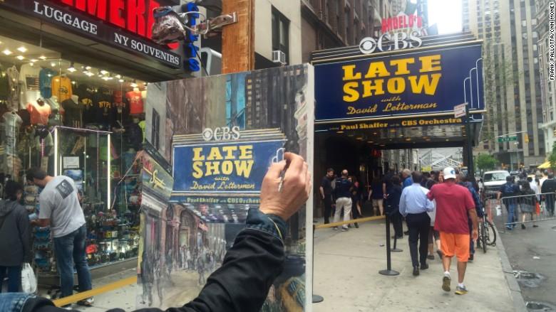 Letterman painting