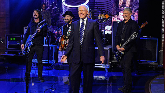 Stars come out for David Letterman's farewell